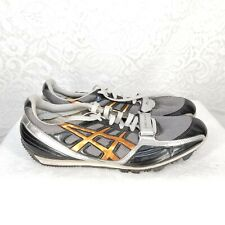 C1 Asics Turbo Jump Men's Shoes 10 Athletic Shoes Cleats Gray Sport Spikes GN702