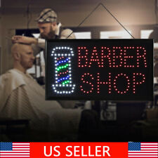 Bright Led Neon Light Animated Motion Store Barber Shop Business Sign Display