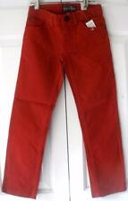 NWT Childrens Place Girls Red Teal Pink Skinny Stretch Adj Wst Twill Pants 4-10