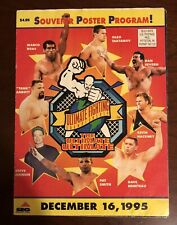 UFC Ultimate Ultimate SIGNED Program Poster! SBC SEG era PRIDE 1 PSA Ready! RARE