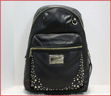 Juicy Couture Faux Leather Laptop Backpack - Large Purse / Tote  BLACK *NEW*