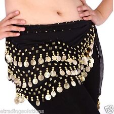 3 Rows Hip Scarf Wrap Belt Dancer Skirt Costome Coins Pretty Belly Dance 2017