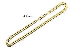 """GOLD AUTHENTIC 14K SOLID GOLD MEN/WOMEN CUBAN LINK BRACELET SZ  7""""- 9"""""""