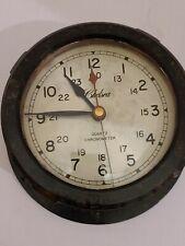 "Vintage Chelsea Clock Co ""Marblehead"" 00006000  Quartz Chronometer Marine Ship Wall Clock"