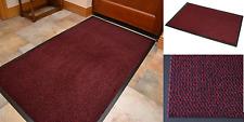 Heavy Duty Non Slip Rubber Barrier Mat Rugs Back Door Hall Kitchen Red 80x120cm