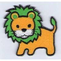 écusson ECUSSON PATCH PATCHE THERMOCOLLANT ENFANT PETIT LION DIM. 5,5 X 5,5 CM