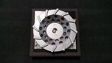 "SASE 7"" 12 Segment Swirly Turbo Non-Threaded Arbor Cup Wheel Cupwheel NEW"