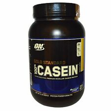 Optimum Nutrition, Gold Standard, 100% Casein, Banana Cream, 2 lbs (909 g) Opti