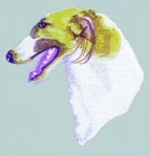 Large Embroidered Zippered Tote - Borzoi Bt3411