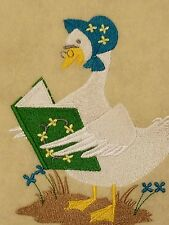 Personalized Embroidery Fleece Baby Blanket With Mother Goose
