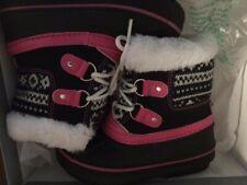 London Fog Girl's Toddler LilTottenham Snow Boots; Grey/Pink (9M)