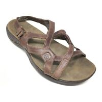 Women's Merrell Agave Strappy Sandals Shoes Size 6 B Brown Leather Casual K10