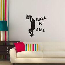 Basketball Ball Is Life Sport Wall Sticker   Slam Dunk Decal Kid Boy Room Decor