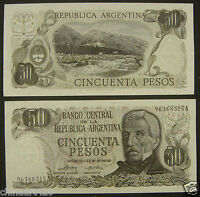 ARGENTINA 50 PESOS BANKNOTE UNC