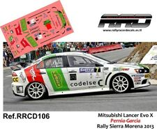 DECAL/CALCA 1/43; Mitsubishi Lancer Evo 10; Pernia; Rally Sierra Morena 2013