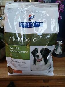 Hills Prescription Diet Metabolic Dry Food for Dogs  4KG NEW FREEPOST