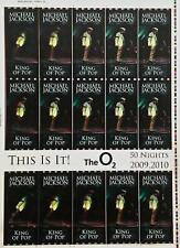 MICHAEL JACKSON Rare uncut sheet of THIS IS IT UK concert tickets VERSION 6