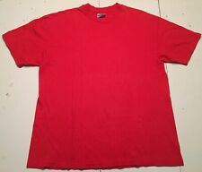 Vintage 80s Hanes Blank T Shirt Mens Xl Red Single Stitch Usa Made 100% Cotton