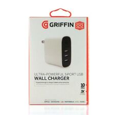 Griffin (1211) PowerBlock Universal 3-Port Multi Device USB Wall Charger, 10W