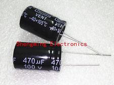 10pcs 470uF 100V 105c Electrolytic Capacitor 16x25mm