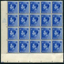 (249)VERY GOOD CONTROL BLOCK OF 20 EDVIII 2&1/2d BLUE SG460 CYL 2. UM.MINT. MNH.