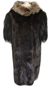 Designer MARNI Real FUR COAT MINK FOX & RACCOON Hood Short Sleeve Gilet M UK 12