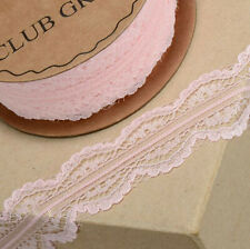 PINK LACE RIBBON WITH SCALLOPPED EDGE 30mm x 5 METERS CRAFTS CAKE DRESSMAKING