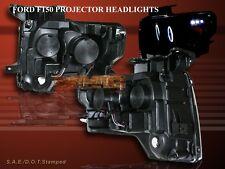2009 2010 2011 FORD F150 PROJECTOR HEADLIGHTS LED TWIN HALO CCFL BLACK