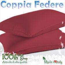 COPPIA FEDERE 52X82 100% COTONE BORDO ROSSO SCURO FEDERA GUANCIALE CPFDBDX