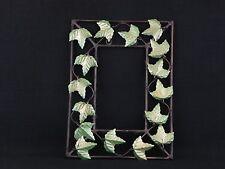 Beautiful Painted Wall Mirror Grape Leaves 3 Dimensional Metal Frame Decorative