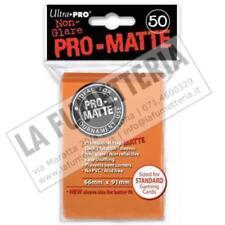ULTRA PRO PRO-MATTE STANDARD 50 BUSTINE 66mm x 91mm (MTG MAGIC) COLORE ARANCIONE