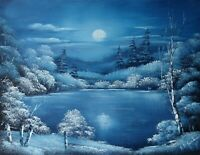 ORIGINAL OIL PAINTING - Moonlight by SP Soni