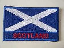 SCOTLAND PATCH Embroidered SEW ON Badge SCOTTISH FLAG ST. ANDREWS CROSS NEW