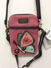 Chala Pink Butterfly Cell Phone Crossbody Bag Small Convertible Purse New