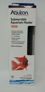 Aqueon Submersible Aquarium Heater 100w Up to 40 Gallons Fresh Saltwater #0307