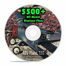 5,500 RC Model Airplane Plans, Gliders, Jetex Control Line Templates PDF DVD G51
