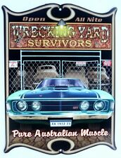 WRECKING YARD SURVIVORS, XA GT PURE AUST MUSCLE All Weather Metal Sign 475x360