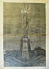 New York Pollution, Statue Of Liberty, Leave All Hope Ye That Enter Vintage 1881