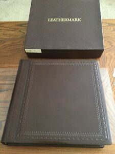 Leathermark Holson Co Leather Bound Gold Trim Wedding Matrimony Photo Album NIB