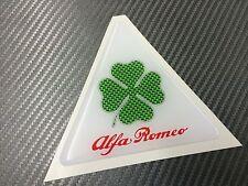 1 Adesivo Stickers ALFA ROMEO Quadrifolgio verde 10 cm Logo Green Carbon