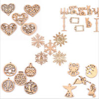 Mixed Carved Christmas Snowflake Cutouts Wood DIY Crafts Wooden Home DecoratiSE