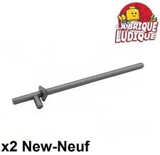 Lego - 2x minifig arme weapon lance chevalier castle argent/flat silver 3849 NEW
