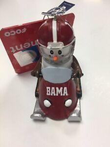 NCAA Snowman Smores Snowmobile Tree Ornament Choose Your Team