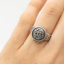Vtg 925 Sterling Silver Celtic Poison Ring Size 5.5