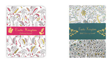 EXOTIC KINGDOM ADULT COULOURING JOURNALS: PEACOCK & FLAMINGO DESIGNS - NEW