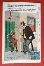 CPSM. Illustrateur Donald Mc GILL. Comique. N°4988.Petit Garçon fumant Cigarette