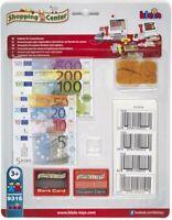 Theo Klein 9316 - Zubehörset für Scannerkasse, Spielgeld, Kreditkarten und EAN