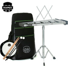 Mapex Mpk32P Backpack Percussion Kit with Adjustable Stand, Pad, Sticks, Mallets