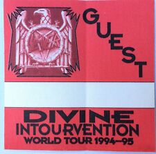 SLAYER Guest Pass From Devine Intourvention Tour 1994-1995. Red Good Condition