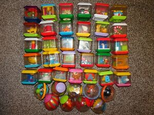 40 Fisher Price Peek a Boo Blocks & See Through Balls~ Some Christmas Ones!